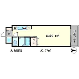 フォスマット松ヶ崎[3階]の間取り
