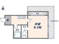 オーナーズマンション友井[6階]の間取り