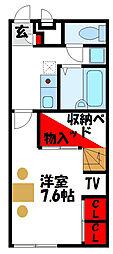 福岡県福津市手光の賃貸アパートの間取り