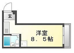 ナルディス尼崎[3階]の間取り