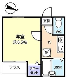 メゾン薬円台[1階]の間取り