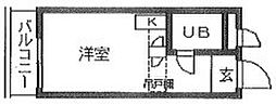 東京都目黒区碑文谷5丁目の賃貸マンションの間取り