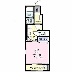 新潟県新潟市中央区堀割町の賃貸アパートの間取り