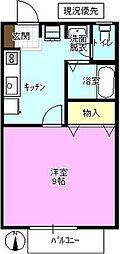 長野県長野市合戦場1丁目の賃貸アパートの間取り