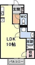 ジュネスヤマモト[102号室号室]の間取り