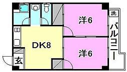 グレース空港通[303 号室号室]の間取り