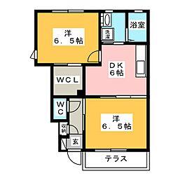 パインツリー8[1階]の間取り