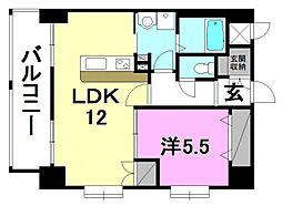 ルネッサンス枝松[701 号室号室]の間取り