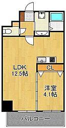 LE GRAND BLEU QUATRE 11階1LDKの間取り