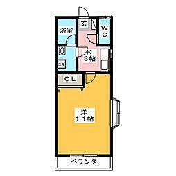 エイトハイツE[1階]の間取り