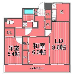 リヴァージュユイット神奈川[7階]の間取り