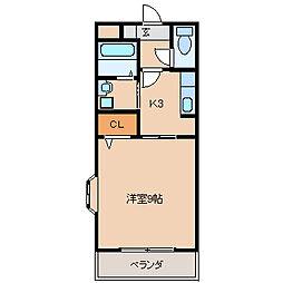 エトワールチサA・B[B201号室]の間取り