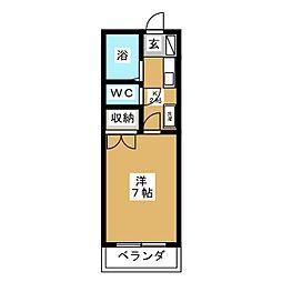 コーポ加藤2 B[2階]の間取り