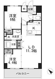 YamazakiSekiyuBLD(ヤマザキセキユ)[9階]の間取り
