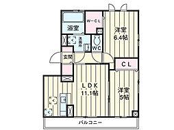 埼玉県上尾市上平中央の賃貸アパートの間取り