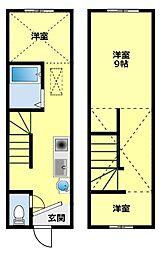 [タウンハウス] 愛知県豊田市栄町5丁目 の賃貸【愛知県 / 豊田市】の間取り