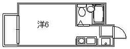 楠木サンバレー[106号室]の間取り