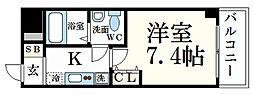 JR山陽本線 姫路駅 徒歩4分の賃貸マンション 4階1Kの間取り