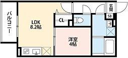 リトレ徳庵[1階]の間取り