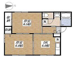 メゾンドリヴェール[1階]の間取り