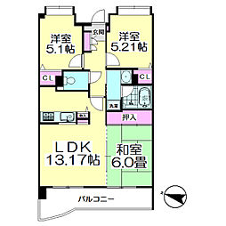 コート・ド・パルク[3階]の間取り