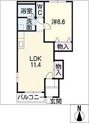 チェリ−・ハウスⅡ[1階]の間取り