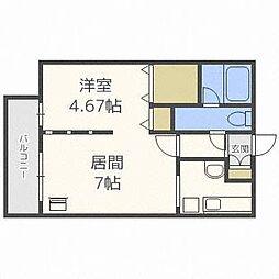 MODULOR南円山[3階]の間取り