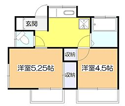 [一戸建] 東京都東大和市清水1丁目 の賃貸【/】の間取り