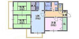 レジデンス桂川[2階]の間取り