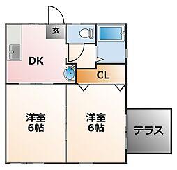 フローラルI[1階]の間取り