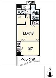 名駅・ドットマンション[10階]の間取り