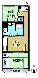 パールメゾン[105kk号室]の間取り
