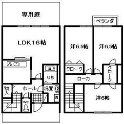 [テラスハウス] 大阪府岸和田市尾生町4丁目 の賃貸【/】の間取り