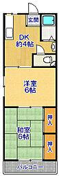 香川マンション[101号室]の間取り