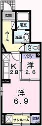 メゾン・アンジュ[1階]の間取り