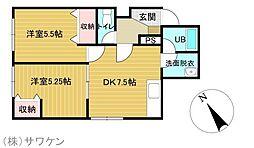 アルファ21[3階]の間取り