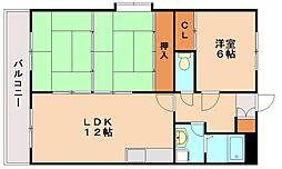 ファミーユ博多南[4階]の間取り