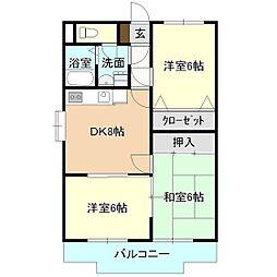 DESEO竹園[1階]の間取り