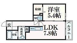 カリーノ・シャレ摩耶 1階1LDKの間取り