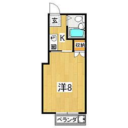 メゾン・ド・シャルレ[2階]の間取り