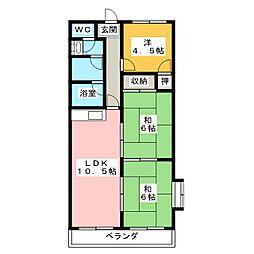 ローレルコート福島[2階]の間取り