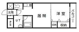 サテラ永山[706号室]の間取り