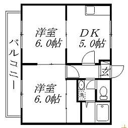 静岡県浜松市西区舞阪町舞阪の賃貸アパートの間取り