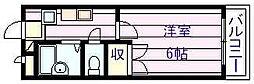 プランドール国分[4階]の間取り