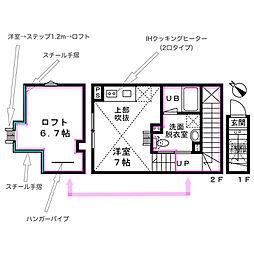 (仮称)CENTENARIO吉祥寺 B棟 2階1DKの間取り