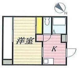 東京都新宿区市谷砂土原町3丁目の賃貸マンションの間取り