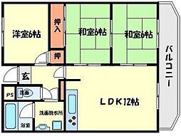 パークサイド山田[2階]の間取り