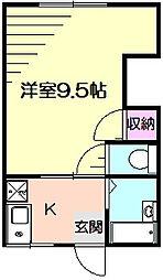 パオ7[1階]の間取り
