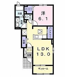 グローヴIII[1階]の間取り