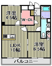 センティーレ和泉[308号室]の間取り